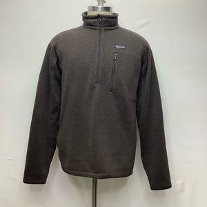 Patagonia size L fleece 1/2 zip jacket pockets